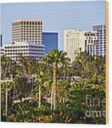 Newport Beach Skyline Picture Wood Print