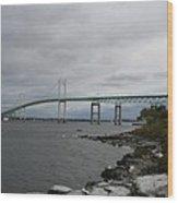 Newport Bridge  -  Rhode Island Wood Print