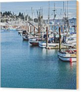 Newport Fishing Fleet  Wood Print
