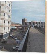 Newport Raised Footpath Wood Print