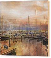 Newport Rhode Island Harbor I Wood Print