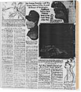 News Article, 1918 Influenza Pandemic Wood Print