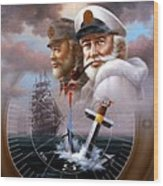 Imperishable Two Map Captain 4  Wood Print