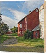 Newtown Barn Wood Print