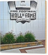 Nfl Hall Of Fame Wood Print by Frozen in Time Fine Art Photography