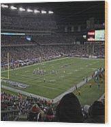 Nfl Patriots And Tom Brady Showtime Wood Print