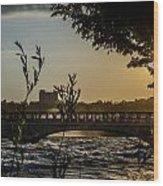 Niagara Dusk Wood Print
