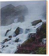 Niagara Falls At A Different Point Of View Wood Print