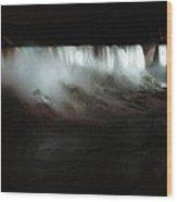 Niagara Falls By Night Wood Print