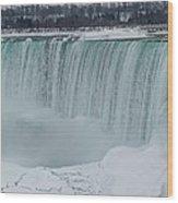 Niagara Falls Canada In Winter Wood Print