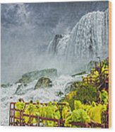 American Falls Niagara Cave Of The Winds Wood Print