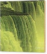 Niagara Falls Closeup Hot Wax Effect Wood Print