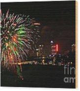 Niagara Falls Fireworks Wood Print
