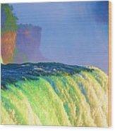 Niagara Falls In Abstract Wood Print