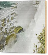 Niagara Falls On The Rocks Wood Print