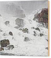 Niagara Falls Overlook Two Wood Print