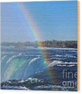 Niagara Falls Rainbow Wood Print