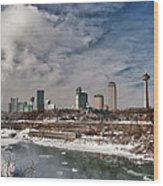 Niagara Falls The City 4534 Wood Print
