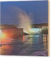 Niagara Falls Ultra Wide Panorama Wood Print