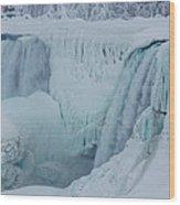 Niagara Falls Usa In Winter Wood Print