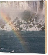 Niagara Rainbow Wood Print
