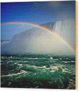 Niagara Rainbow Wood Print