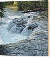 Niagara River Rapids Above Niagara Falls 2 Wood Print