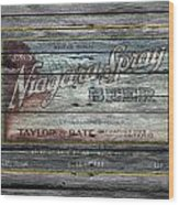 Niagara Spray Beer Wood Print
