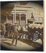 Niagra Carting Wagon Extras The Great White Hope Set Globe Arizona 1969-2014 Wood Print