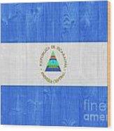 Nicaragua Flag Wood Print