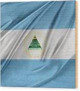 Nicaraguan Flag Wood Print by Les Cunliffe