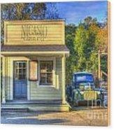 Nicasio Land Company Wood Print by Alberta Brown Buller