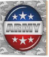Nice Army Shield 2 Wood Print