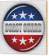 Nice Coast Guard Shield Wood Print