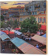 Nice Flower Market Wood Print