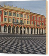 Nice France - The Cheerful Colors Of Place Massena Wood Print