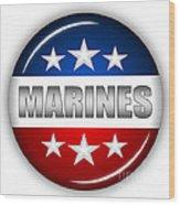 Nice Marines Shield Wood Print