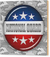 Nice National Guard Shield 2 Wood Print by Pamela Johnson