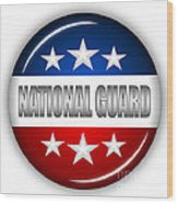 Nice National Guard Shield Wood Print
