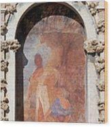 Niche Fresco In Real Alcazar Of Seville Wood Print