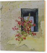 Niche With Flowers Wood Print