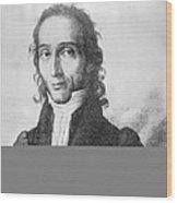 Nicholo Paganini, Italian Violinist Wood Print
