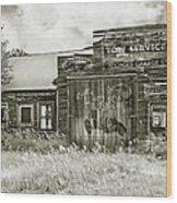 Nichols Garage Wood Print