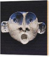 Nico Cobalt Mask Wood Print by Mark M  Mellon