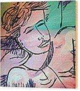 Nicole Gullata I Love You Wood Print