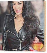 Nicole Scherzinger 21 Wood Print by Jez C Self