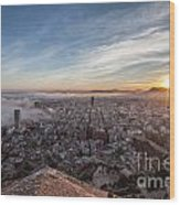 Niebla en Alicante Wood Print