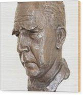 Niels Bohr Sculpture Wood Print