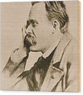 Nietzsche Wood Print