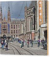 Nieuwe Kerk In Amsterdam Wood Print